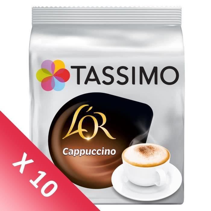 TASSIMO Café Dosettes L'Or Cappuccino - Lot de 10 x 8 dosettes