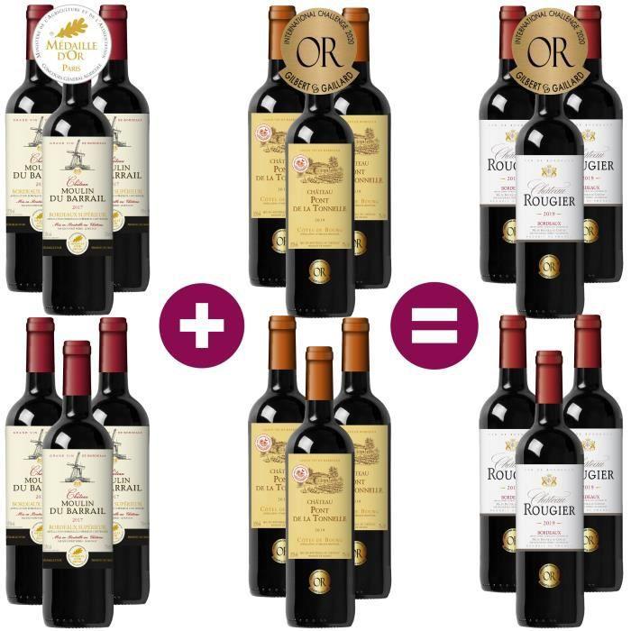 12 = 18 Bordeaux et Côtes de Bourg Médaille Or