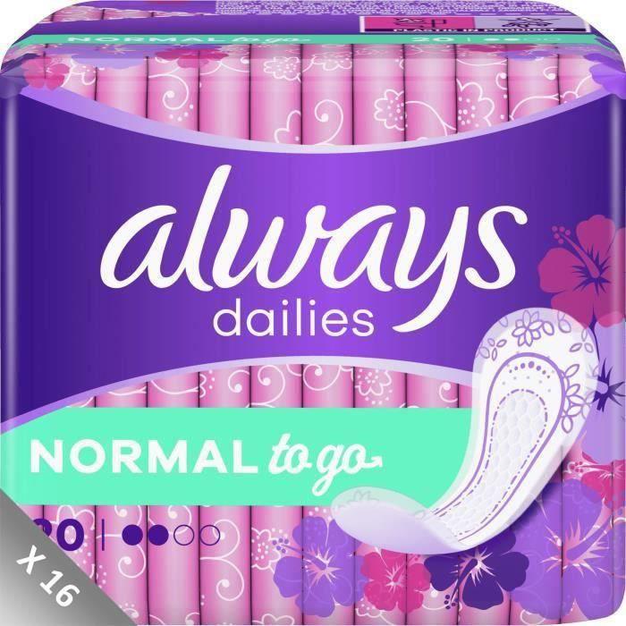 ALWAYS Protège-slips Dailies Normal - Lot de 16 x 20 = 320 protège-slips