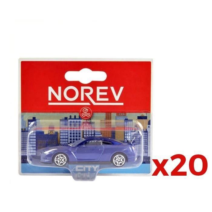 NOREV Pack 20 voitures miniatures en métal (modèle aléatoire)