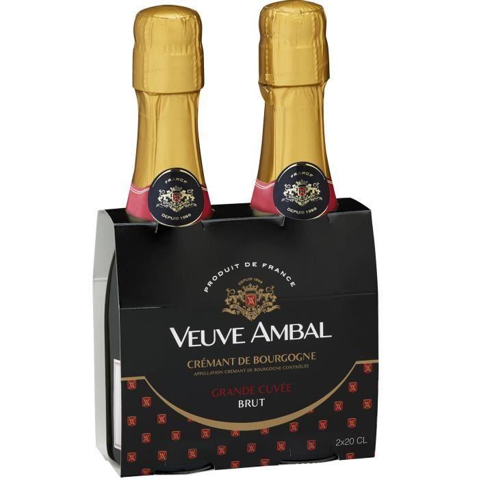 Veuve Ambal Grande Cuvée - Crémant de Bourgogne 2 x 20 cl