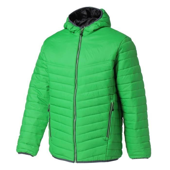 REGATTA Doudoune avec capuche, déperlante, isolation thermique warmloft 140g/m² - Vert et noir