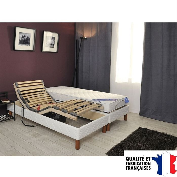 ensemble sommier et matelas gfl belle literie. Black Bedroom Furniture Sets. Home Design Ideas