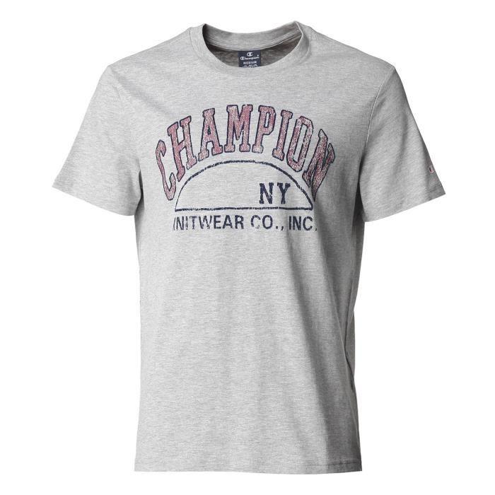 CHAMPION T-Shirt Tee-shirt logo Grey - Homme - Gris