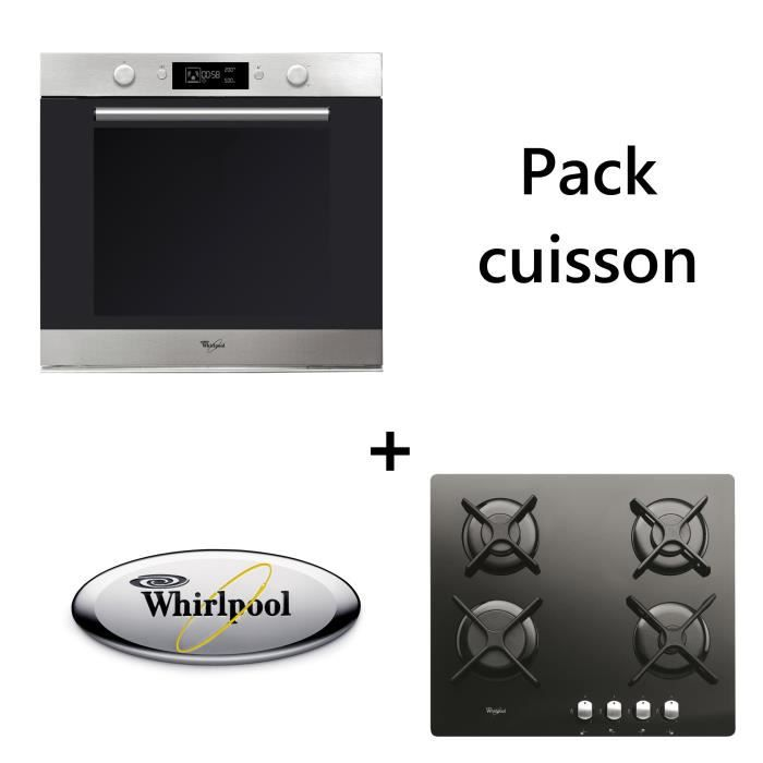 WHIRLPOOL - Pack cuisson : Four + table de cuisson BUNWHIIXNB