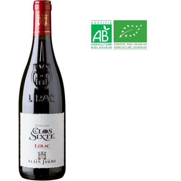 Alain Jaume Domaine du Clos de Sixte 2015 Lirac - Vin rouge des Côtes du Rhône - Bio