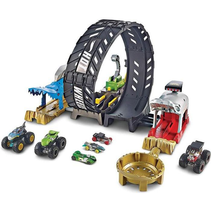 HOT WHEELS Monster Trucks Circuit Monster Looping - de 4 à 8 ans
