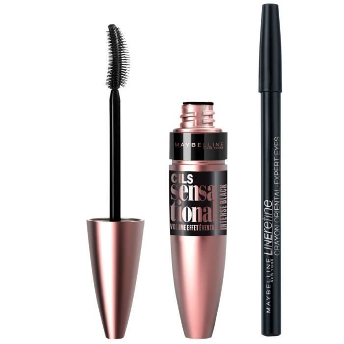 Maybelline New York Lot Mascara Et Crayon Oriental