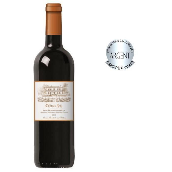 Château Joly 2018 Saint Emilion Grand Cru - Vin rouge de Bordeaux