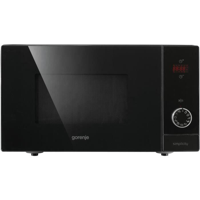 GORENJE MO6240SY2B - Micro ondes grill noir de jais - 23 L - 900 W - Grill 1000 W - Pose libre