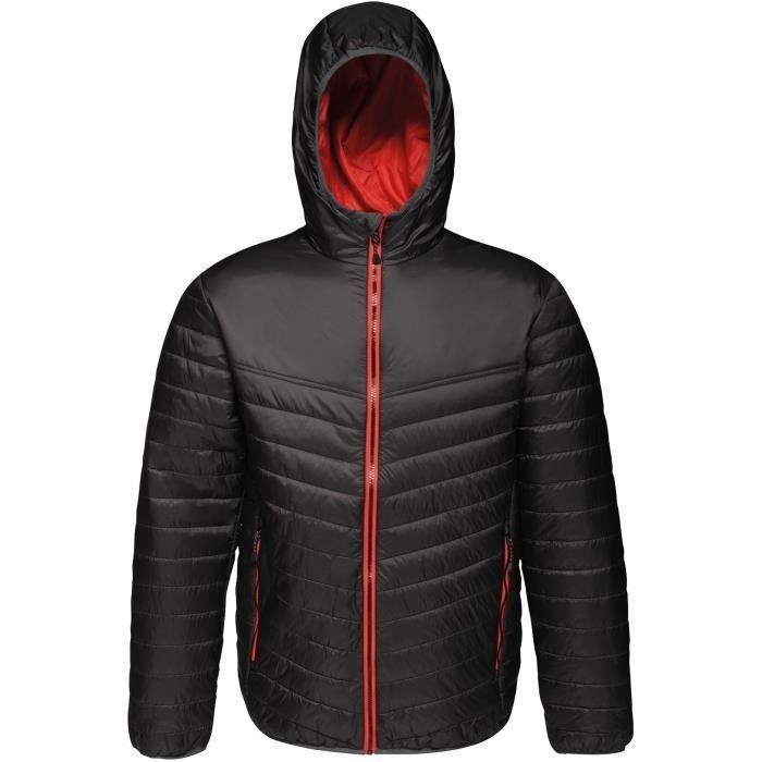 REGATTA Doudoune avec capuche, déperlante, isolation thermique warmloft 140g/m² - Noir et rouge