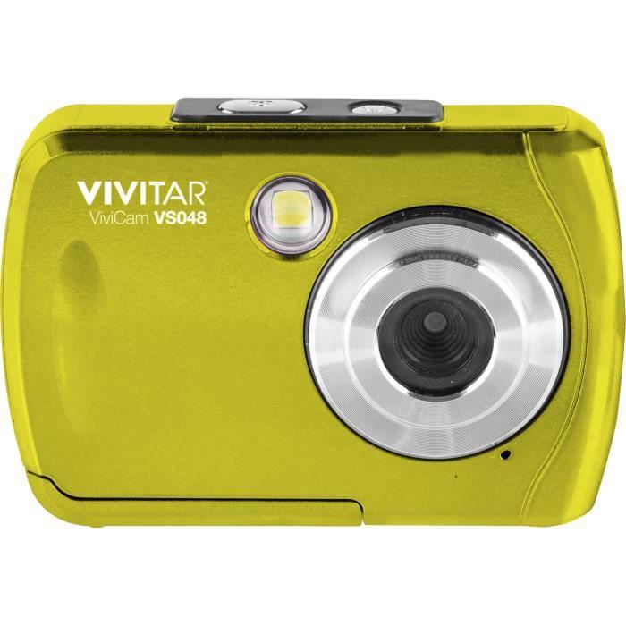 VIVITAR VS048 - Appareil photo numérique compact 16 Mégapixels, écran 2.4-, Waterproof - Jaune
