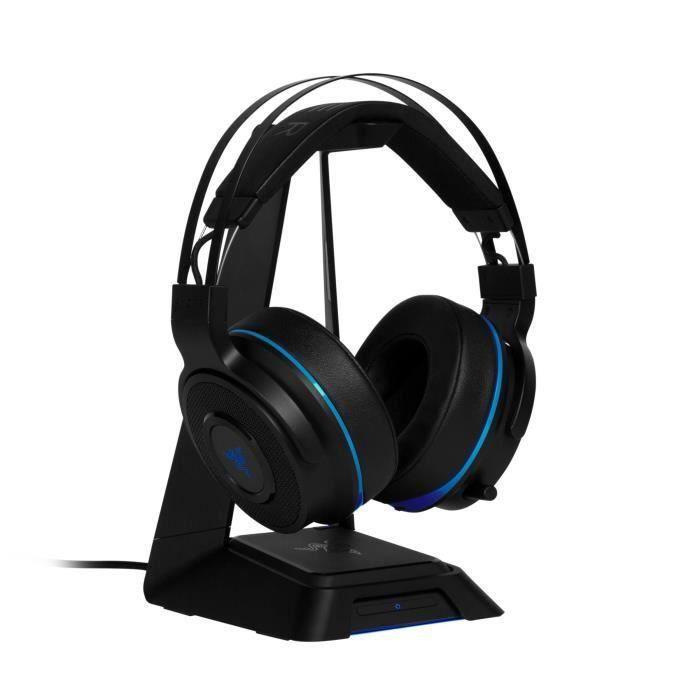 Casquethresher Ultimate Razer pour Ps4 Noir et bleu