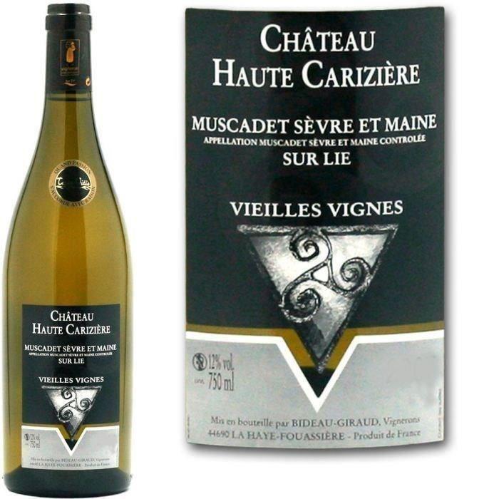 Château Haute Carizière 2015 Muscadet Sèvre et Maine - Vin blanc de Loire