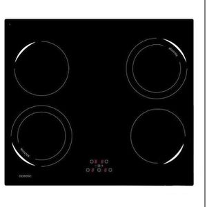 OCEANIC OCEATI4Z2B Table de cuisson ? induction-4 zones-6500W-L59xP52cm-Rev?tement verre-Noir