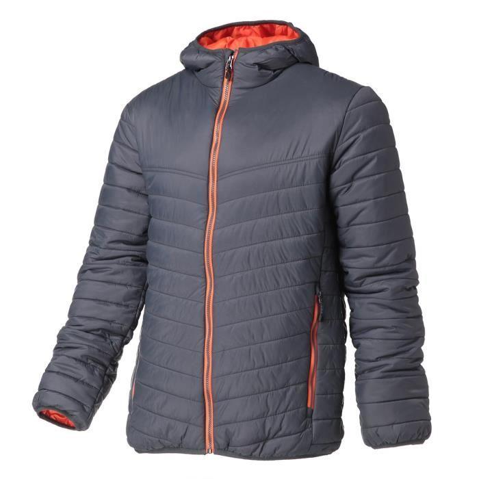 REGATTA Doudoune avec capuche, déperlante, isolation thermique warmloft 140g/m² - Gris