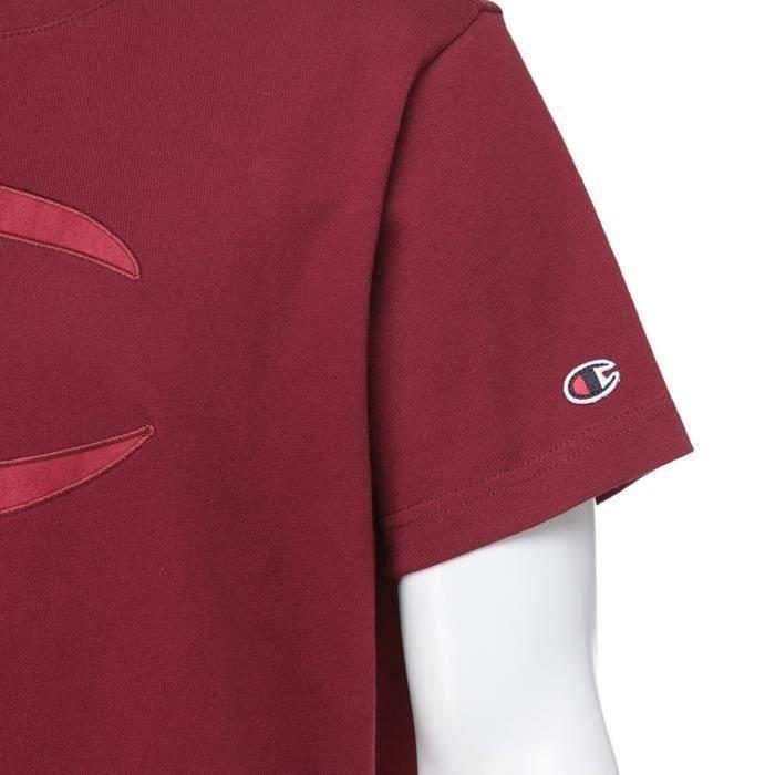 CHAMPION T-Shirt Rouge Bordeaux Homme