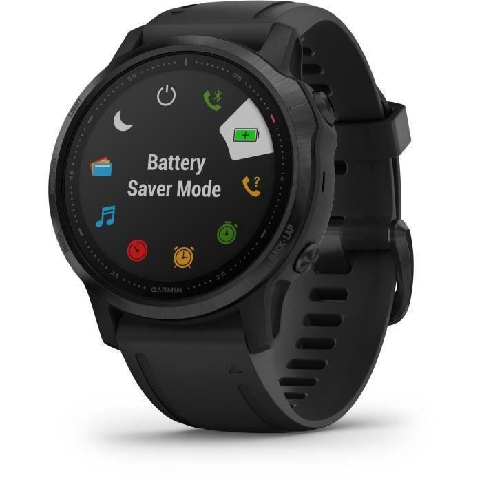 Garmin fenix 6S PRO - Montre GPS multisports haut de gamme - Black avec bracelet noir