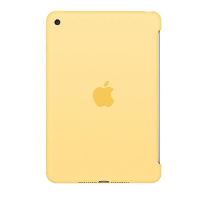 Apple - Coque de protection pour pour iPad mini 4 - MM3Q2ZM/A - Silicone - Jaune