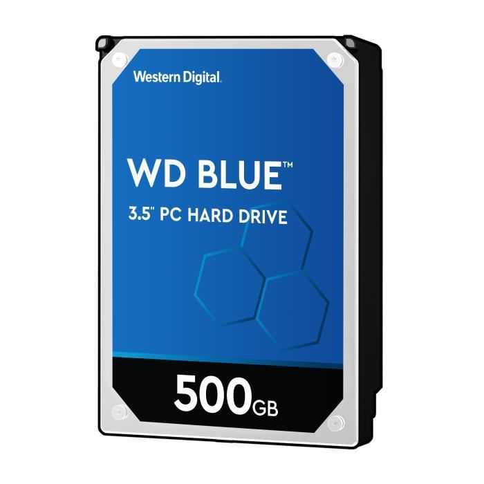 WD Blue™ - Disque dur Interne - 500Go - 5 400 tr/min - 3.5- (WD5000AZRZ)