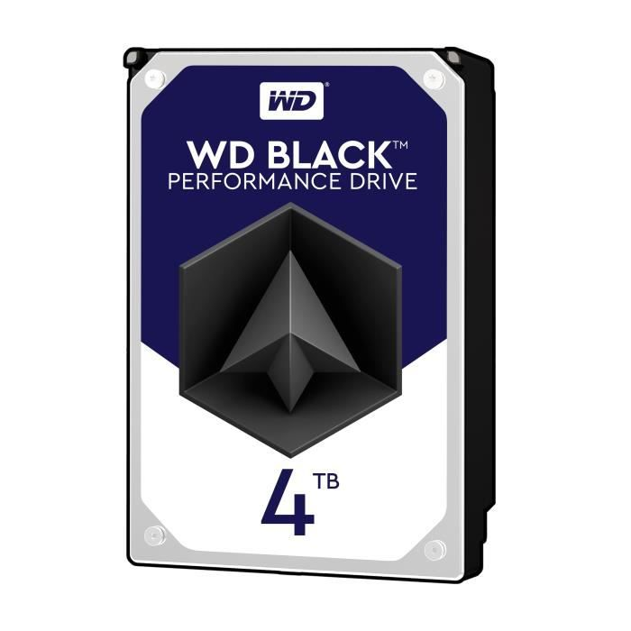 WD Disque dur interne Black 4To 128Mo 3.5