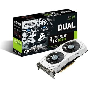CARTE GRAPHIQUE INTERNE ASUS Carte graphique DUAL-GTX1060-O3G - NVIDIA - G