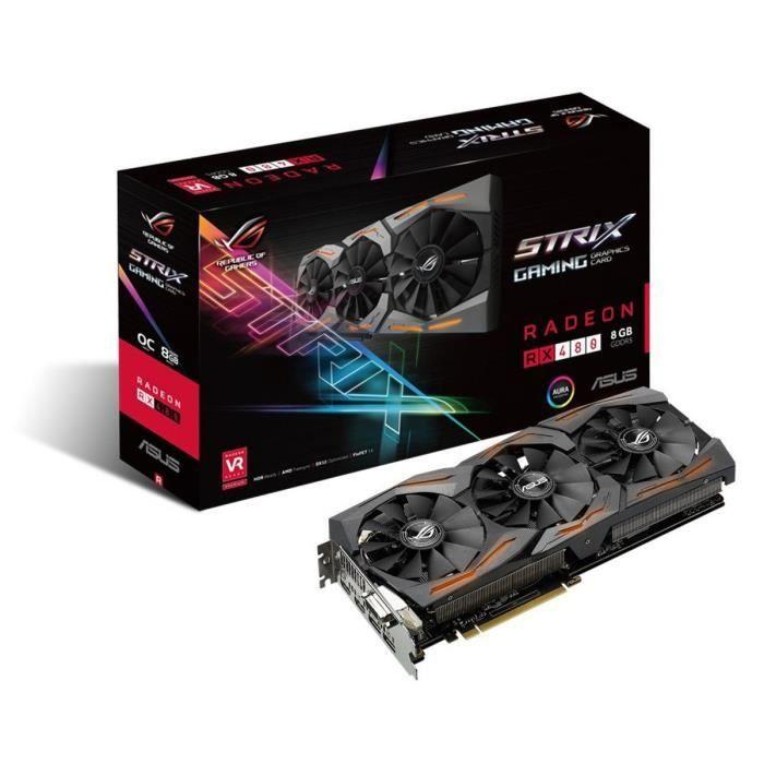 CARTE GRAPHIQUE INTERNE Asus Carte graphique Radeon ROG STRIX RX480 8G Gam