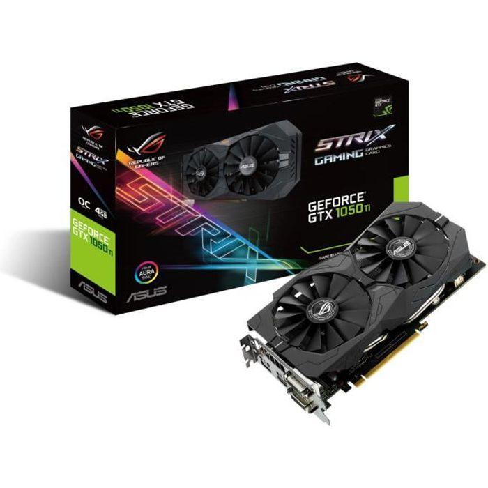 CARTE GRAPHIQUE INTERNE Asus Carte graphique GeForce® STRIX GTX 1050 TI O4