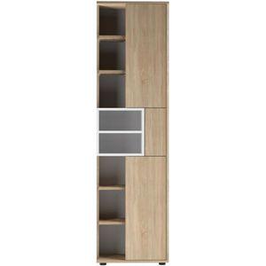 COLONNE - ARMOIRE SDB KUBE Colonne de salle bain L 50 cm - Décor chêne n