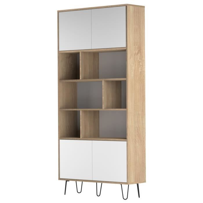 biblioth que etag re cube beige achat vente. Black Bedroom Furniture Sets. Home Design Ideas