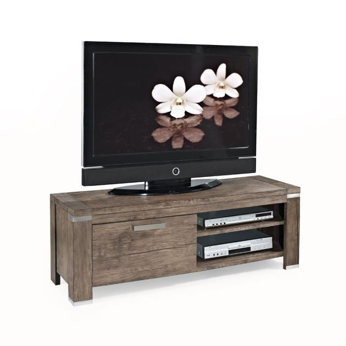 doria meuble tv 130cm d cor noyer achat vente meuble. Black Bedroom Furniture Sets. Home Design Ideas