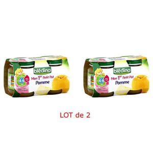 DESSERT FRUITS BÉBÉ BLEDINA Mon 1er Petit Pot Pomme - 4x130 g - Dès 4/