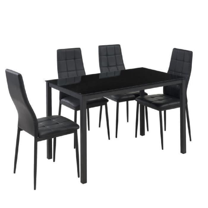 TABLE À MANGER COMPLÈTE SELVA Ensemble table à manger de 4 à 6 personnes +