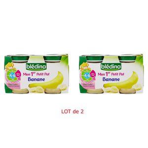 DESSERT FRUITS BÉBÉ BLEDINA Mon 1er Petit Pot Bananes - 4x130 g - Dès