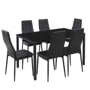 TABLE À MANGER COMPLÈTE SELVA Ensemble table à manger de 6 à 8 personnes +