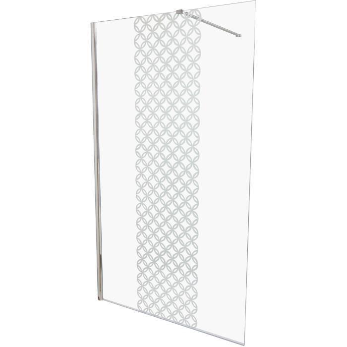 Paroi de douche pare-douche verre de s/écurit/é cabine de douche vitrification nano Ravenna17 90X120X195