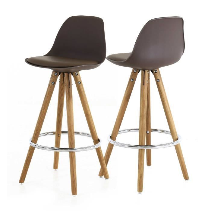 popsy lot de 2 tabourets de bar en simili taupe achat vente tabouret de bar cdiscount. Black Bedroom Furniture Sets. Home Design Ideas