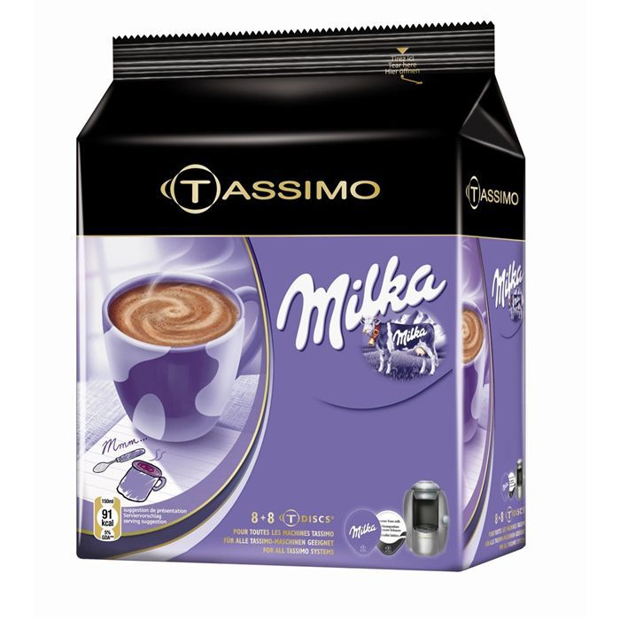 tassimo milka 16t achat vente cacao chocolat. Black Bedroom Furniture Sets. Home Design Ideas
