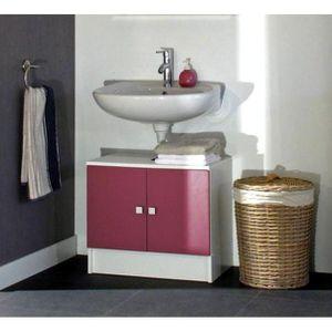 MEUBLE VASQUE - PLAN GALET Meuble sous lavabo L 60 cm - Rose fuchsia ma