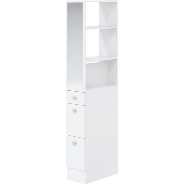 gap colonne de s paration de salle de bain l 54 cm blanc achat vente colonne armoire sdb. Black Bedroom Furniture Sets. Home Design Ideas