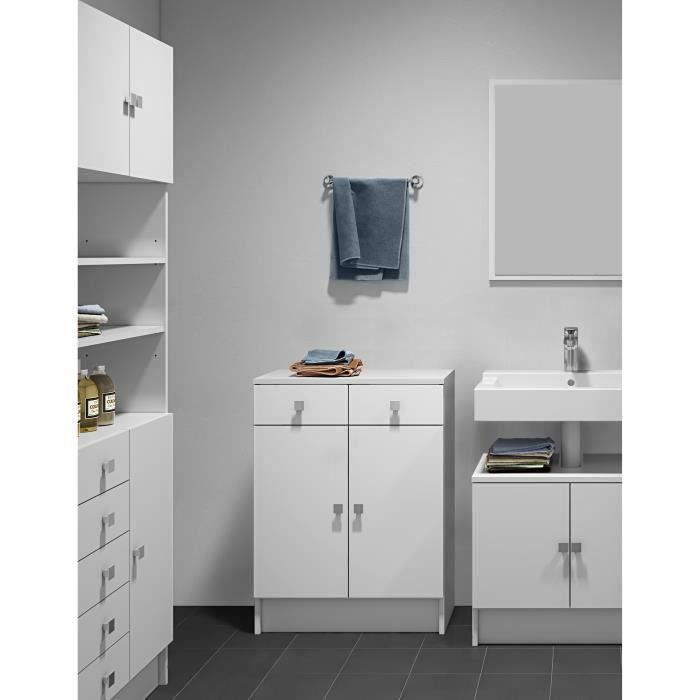 galet meuble de salle de bain l 60 cm blanc achat vente colonne armoire sdb galet meuble. Black Bedroom Furniture Sets. Home Design Ideas