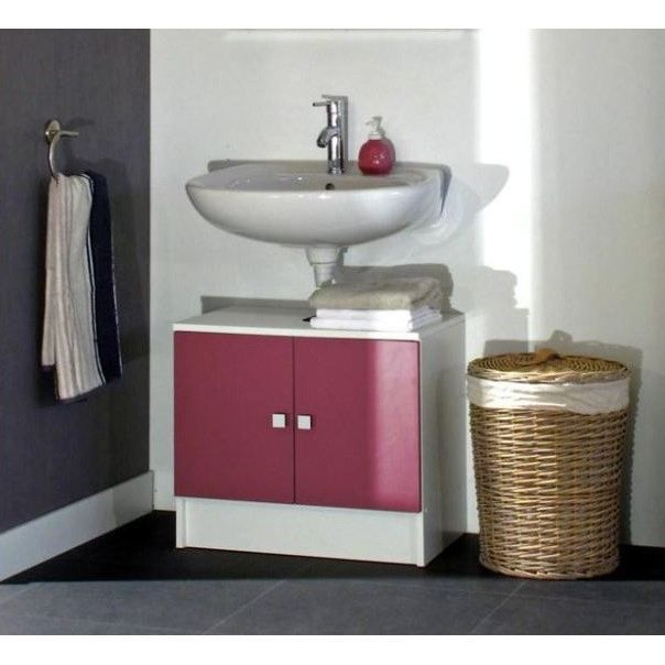 galet meuble sous lavabo 60cm rose fuchsia achat vente meuble vasque plan galet meuble. Black Bedroom Furniture Sets. Home Design Ideas