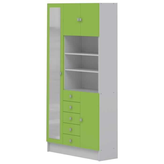 galet armoire salle de bain 4 portes vert achat vente. Black Bedroom Furniture Sets. Home Design Ideas