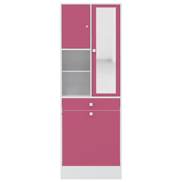 galet armoire de toilette l 60 cm rose fuchsia achat. Black Bedroom Furniture Sets. Home Design Ideas