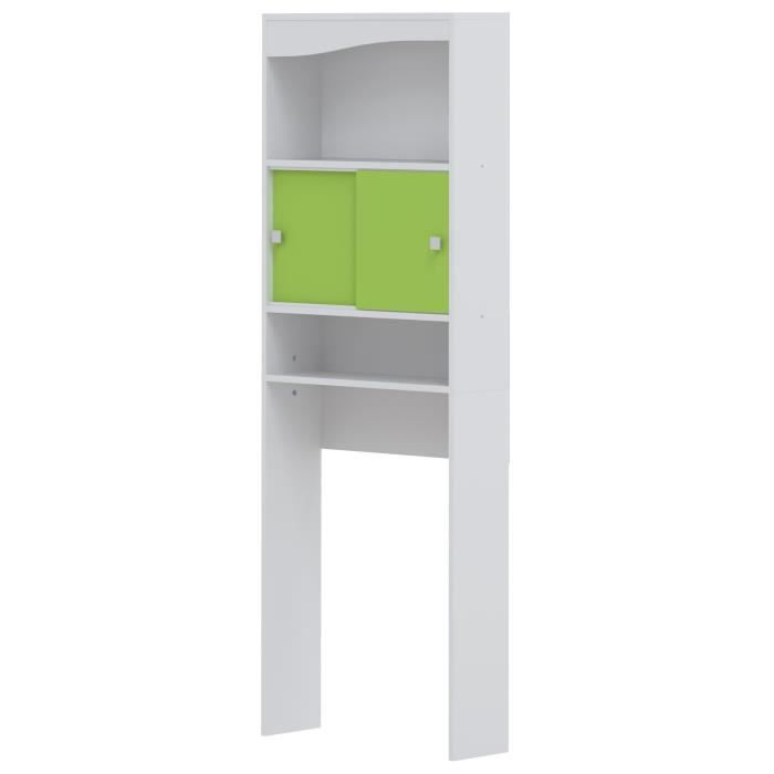 galet meuble wc ou machine laver l 64 cm vert pomme achat vente colonne armoire wc. Black Bedroom Furniture Sets. Home Design Ideas