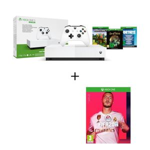 CONSOLE XBOX ONE Xbox One S All Digital Refresh 1 To + FIFA 20 Jeu