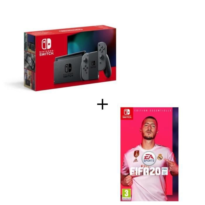 CONSOLE NINTENDO SWITCH Pack Nintendo Switch Grise + Fifa 20