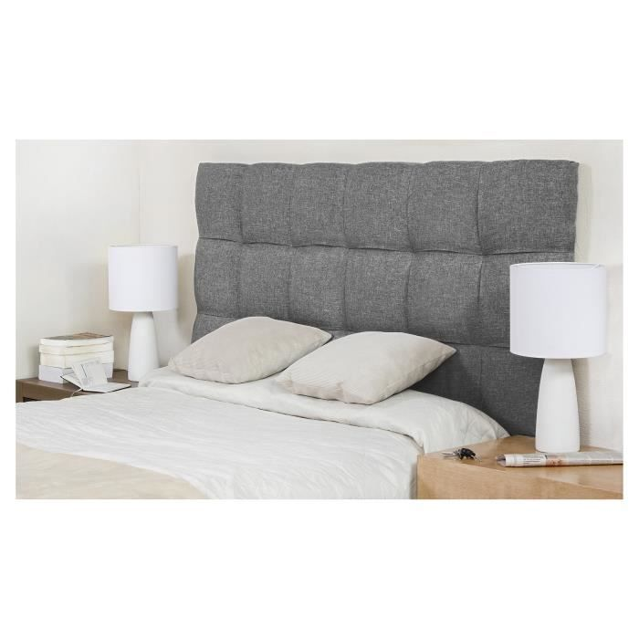 finlandek t te de lit dream 140 gris clair achat vente t te de lit dream t te de lit 154 cm. Black Bedroom Furniture Sets. Home Design Ideas