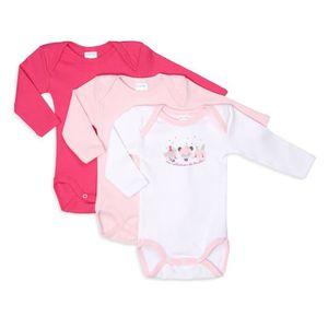 BODY ABSORBA Lot de 3 Bodies bébé fille Placé Ma Collec