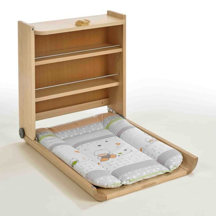 Geuther table langer murale wanda naturelle matelas etoile naturel achat vente table - Table a langer murale occasion ...